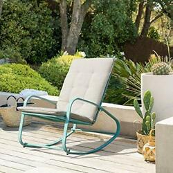 Oc Orange-casual Patio Rocking Chairs Outdoor Metal Rocker With Removable Pad...