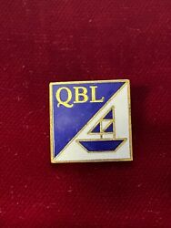 Qbl Blue White W/boat Cloisonnandeacute Tie Lapel Pin .75 Maybe Quality Boat Lifts