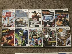 Lot Of 10 Nintendo Wii Games- Tested Working Fun Family Variety Mixed Kids Used