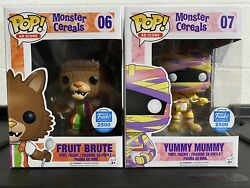 Funko Pop Ad Icons Monster Cereals Yummy Mummy And Fruit Brute Funko Shop 2500 Le