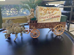 Vintage Ideal Roy Rogers Chuckwagon Wagon, Horse And Figures Toy