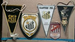 Collection Pennant - The Best Clubs In The World Santos Fc, Brazil, Pele