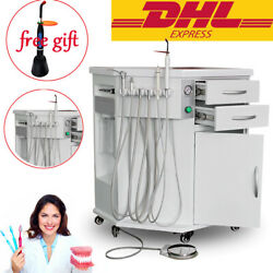 Dental Mobile All In One Delivery System Cart Unit Curing Light Scaler+free Gift