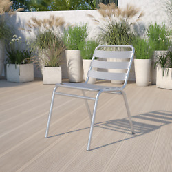 Flash Furniture Commercial Aluminum Indoor-outdoor Restaurant Stack Chair With T