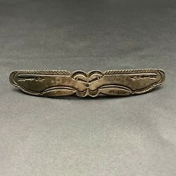 Vintage Hopi Morris Robinson Hand Stamped Arrow Sterling Silver Hair Pin