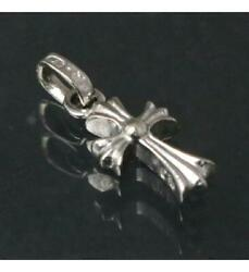 Chrome Hearts Ginza Store With Invoice Baby Fat Cross 18kwg Pavedia Neckl _69133