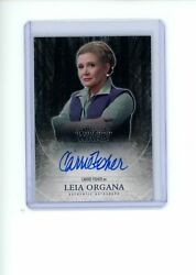 2015 Topps Star Wars The Force Awakens Series 1 Carrie Fisher Leia Organa Auto