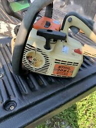 Vintage Stihl 009l Electronic Stop Chainsaw Top Handle Runs But Needs Carb Wo