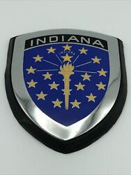 Indiana Car Badge/scooter Badge Without Hardware - Nos