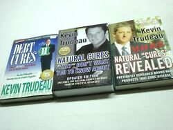 Lot Of 3 Kevin Trudeau Hc Books Debt Cures, More Natural Cures Revealed