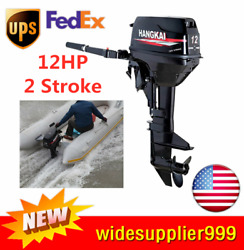 Hangkai 12hp 2 Stroke Heavy Duty Outboard Boat Engine Water Cooling And Cdi Usa