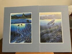 Robert Lyn Nelson Not Authenticated 1982. 2 Piece Set. Hawaii Land And Sea Scene