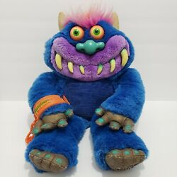 Vintage My Pet Monster Tested Talks Working With One Handcuffs Blue 2001 Toymax