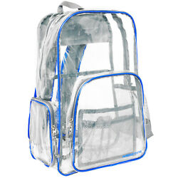 MEISTER ALL ACCESS CLEAR BACKPACK Boys Meets School amp; Event Bag Security BLUE $22.99
