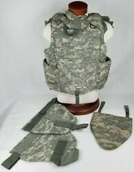 Army Military Tactical Plate Carrier Vest Acu Quick Release Medium +soft Inserts