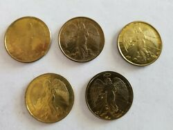 Lot Of 5 Double Sided Angel Coins