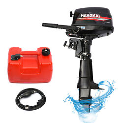 6.5hp 4stroke Outboard Motor Marine Boat Engine Water Cooling System Control 1pc