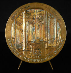 Medal Competition International Dand039orgue Church Chartres 1971 Organ -