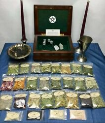 Wiccan Starter Kit Wiccan Herb Kit Witchcraft Witch Spells Potions Pagan Altar