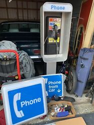 Vintage Pay Phone Booth Complete With New Signs Booth Never Got Used Phone