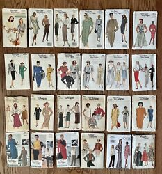 25 Complete Vogue, Very Easy Vogue Sewing Patterns Size 8-10-12-14-16-18