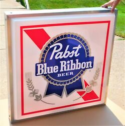 1986 Pabst Beer Outdoor 4' X 4' Double Sided Sign The Best Nos Mint In Box Wow