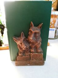 Vintage Ornawood Scottie Dog Bookends Pair Made In Usa Cottagecore 7 Tall