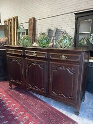 Rare Antique French Provincial Carved Sideboard Sideboard Commode Buffet