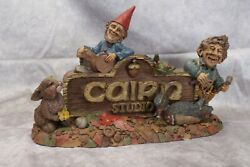 Tom Clark And Tim Wolfe Signed Gnome 1993 Cairn Studio Sign Item 2042 Edition 37