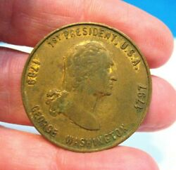 Old George Washington Token American Fabious 1 1/8 Inches