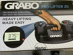 New Version Grabo Pro Electric Vacuum Suction Cup Lifter W/ Electronic Display