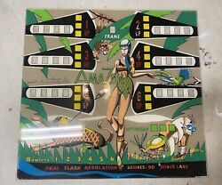 Original Vintage Uniteds Bowling Arcade Marquee Sign 1970s 1980s 34x32
