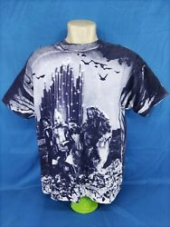 Vintage 90and039s Stanley Desantis Wizard Of Oz All Over Print T-shirt Raresizexl