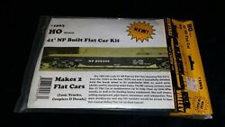 41' Np Flat Car Kit Ho Scale Makes 2 Flat Cars Central Valley 1003 New In Pkg