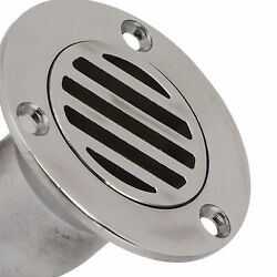 Deck Drain Scupper 1.5in Od 316 Stainless Steel Plumbing Fittings For Boat Yacht