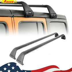 Car Top Roof Rack Cross Bar Luggage Bicycle Carrier For Jeep Wrangler Jl Jk 2018