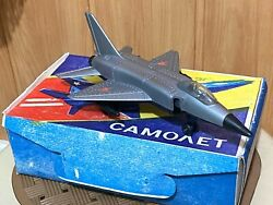 Vintage Plastic Airplane Model Mig-28 Ussr Fighter Plane Retro Collectible Toy