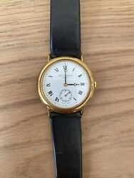Rare Vintage 1980andrsquos 9ct Gold Plated Mappin And Webb Womens Watch