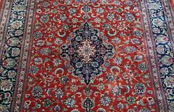 Superb 100 Silk Signed Floral Hand Knotted Oriental Rug Cleaned 4'4 X 7'