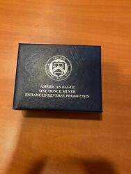2019 American Eagle One Ounce Silver Enhanced Reverse Proof S Dollar .999 19xe