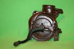 Antique Fulton Cast Iron Corn Sheller - Very Nice - Repainted And Working