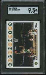 2008-09 Topps Kevin Durant Second Year Card 156 Slab Sgc 9.5 Mint + Nets Ej0
