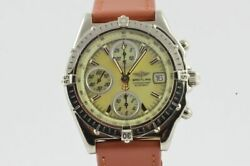 Breitling Chronomat Gt Menand039s Watch Steel Vintage A13050.1 Automatic Mop Pearl