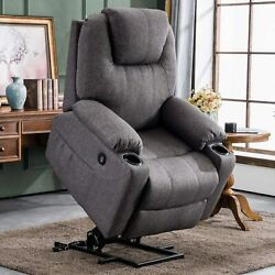 Large Power Lift Massage Recliner Chair Elderly Heated Big Tall People Usb Ports