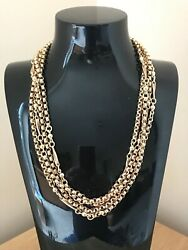Fabulous Antique 58 Victorian 9ct Gold Muff Guard Chain And Velvet Box