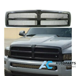 For 94-01 Dodge Ram Pickup Truck 1500 Front Grill Bumper Grill Gloss Black
