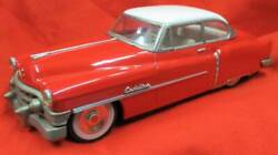 Tin Car Cadillac Cadirrac Red And White Old With Friction Made In Japan By Fifes