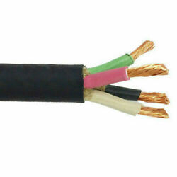 4/4 Soow Portable Power Cable Flexible Cpe Jacket Black Lengths 10and039 To 1000and039