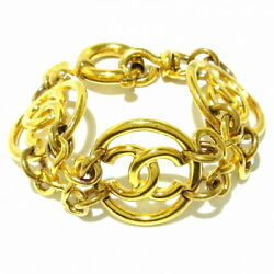 Bracelet Metal Material Gold Coco Mark Secondhand _34077