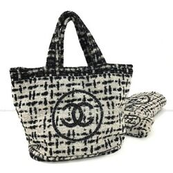 Pile Tote Bag Beach Towels With Pouch Black _34146